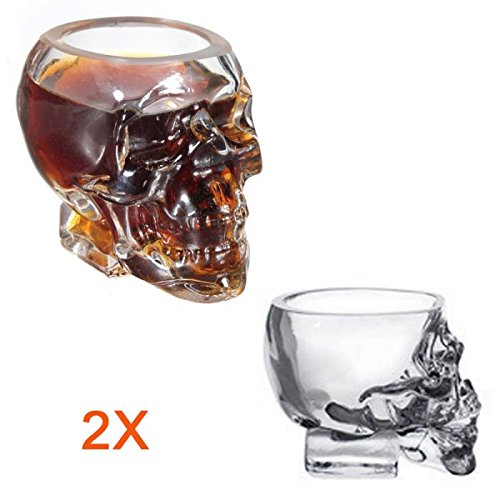 2PCS 50ml Creative Crystal Skull Head Bone Winebottle Mug Beer Glasses Wine Glass Bottles -Ez2Shop