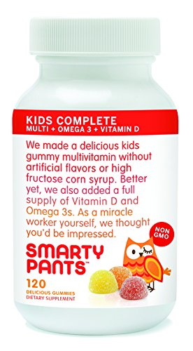 Smartypants Vitamins Gummy Vitamins With Omega 3 Fish Oil And Vitamin D, 120 Count