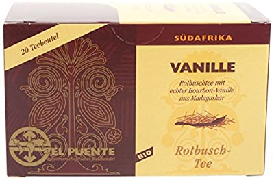 El Puente Rotbusch Vanille, 20 Teebeutel, kuvertiert, 8er Pack (8 x 36 g) von El Puente - Gewürze Shop