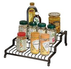InterDesign York Houseware, Spice Rack, Bronze