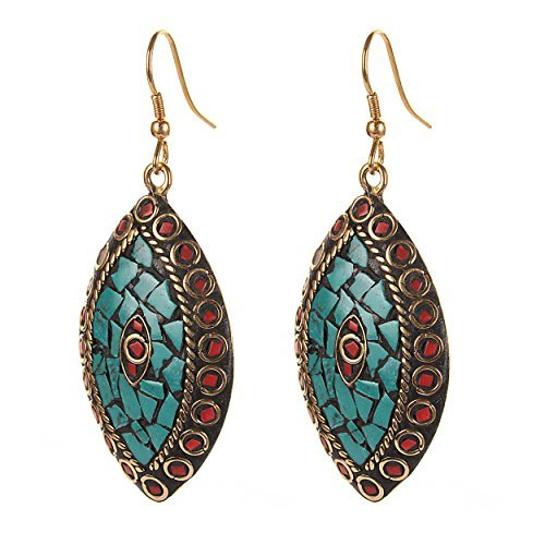 Zephyrr-Fashion-Hanging-Hook-Earrings-Tibetan-Style-for-Women