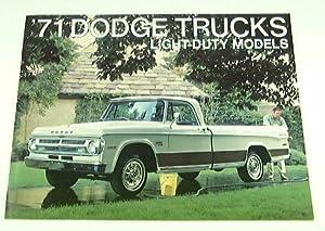 1971 71 DODGE Pickup TRUCK BROCHURE D100 D200 D300