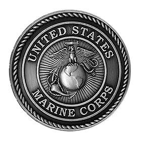 USMC Marine Corps EGA Eagle Globe Anchor Premium Metal Car Truck Auto Crest Mini Emblem