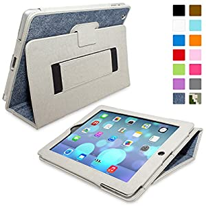 Snugg® iPad 3 & 4 Case - Smart Cover with Flip Stand & Lifetime Guarantee (Blue Denim) for Apple iPad 3 and 4
