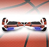 Balance Board Hover Scooter Skin Wrap ● Protective Adhesive Peel Stick Vinyl Decal ● Mini Balancing Hovering Board Scooter 2 Wheel Self Balancing Unicycle Cover Sticker ● (Basketball)