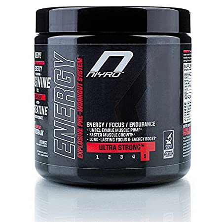 Niyro Nutrition - Energy Pre-Workout - Energy, Focus & Endurance - Ultra Strong Supplement (300 g Lemon)