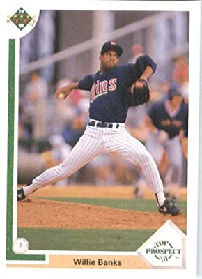1991 Upper Deck # 74 Willie Banks Minnesota Twins - MLB Baseball Trading Card
