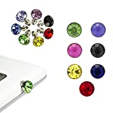 Lanveni 7× 3D Colourful Crystal Rhinestone Bling 3.5 mm plug Anti-Dust protection stoppers Mobile dust plugs for Smartphone Tablet iPhone 4 4G 4S 5S 5G 5C, iPad 2 3 4 ipad ipad Mini aire ipad 5, Samsung Note N7100 2, i9220 N9000, N9005 Nota 3, Galaxy i91