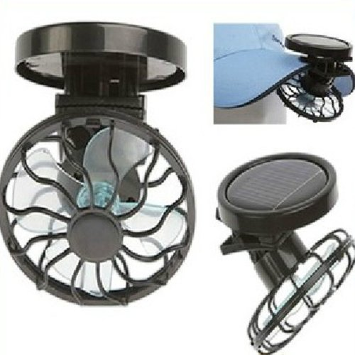 DCDEAL Portable Mini Solar Powered Clip Fan Cooling Fan Hat Cap Fan Energy Saving Travel Summer Camping (Portable Solar Fan compare prices)