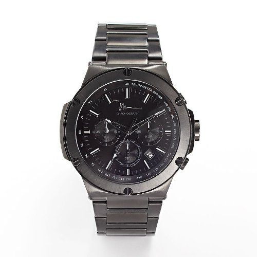 881708082792 - Marc Anthony Black Stainless Steel Chronograph Watch - Men carousel main 0