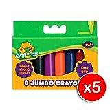 Crayola Beginnings 8 Jumbo Crayons - x5