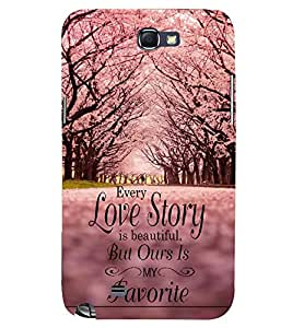 PRINTSWAG QUOTE Designer Back Cover Case for SAMSUNG GALAXY NOTE 2