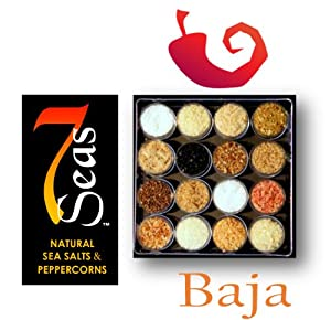 Baja Gourmet Sea Salt Sampler Capturing The Soul Sizzle Of The Baja Mexican Cuisine by Salts of the 7 Seas