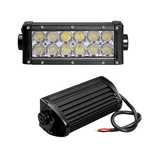 Bonlighting 7.5 Inch 36W Superbright Off Road Cree Led Work Light Bar Flood/Spot Combo Beam - 3W*12Pcs Leds For Jeep Cabin Boat Suv Truck Car Atv