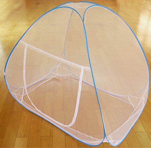 【gioiellante】蚊帳 ワンタッチ 折りたたみ式 底なし シングル セミダブル ダブル キング (180×195キング)