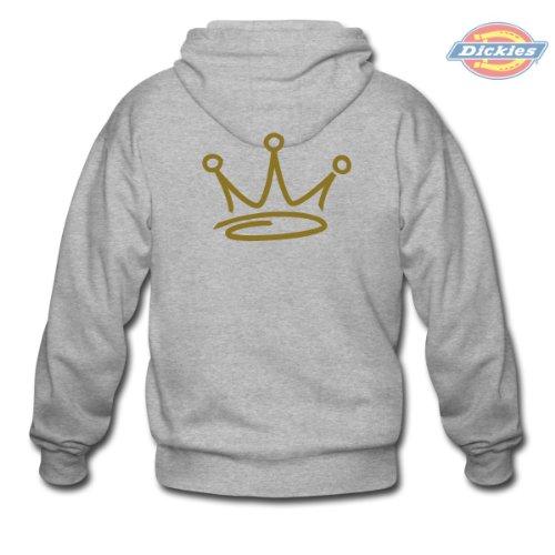 Spreadshirt, crown graffiti, Men's Hoodie by Dickies, ash, L