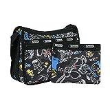 (レスポートサック) LeSportsac デラックスエブリデイバッグ (チョークボードスヌーピー) ブラック ピーナッツコラボ PEANUTS 7507 G057 Deluxy Everyday Bag Chalkboard Snoopy [並行輸入品]
