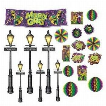 Mardi Gras Decor & Street Light Props Assortment 8in.- 46in.