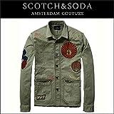 スコッチアンドソーダ SCOTCH&SODA 正規販売店 メンズ アウタージャケット Shirt jacket in cotton quality with raw edge detail and badges 135311 92 S (コード:4107003939-2)