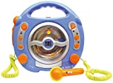 Toy - Idena 6805350 Kinder CD-Player SING-A-LONG blau mit 2 Mikrofonen und LED-Display