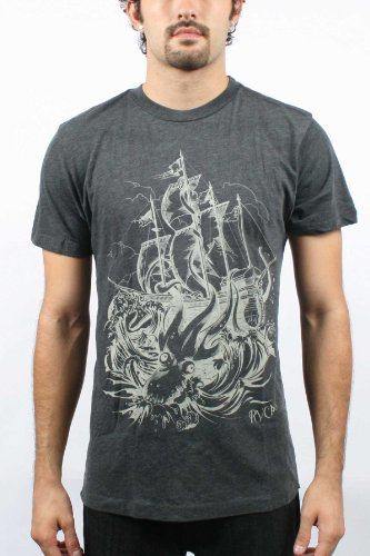 RVCA Artist Network Program High Seas T-Shirt - Charcoal (Small)