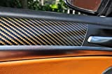 12 tlg. Carbon Braun Interieurleisten 3D Folien SET 100µm stark , Türleisten, Mittelkonsole, Aschenbecher passend für Ihr Fahrzeug