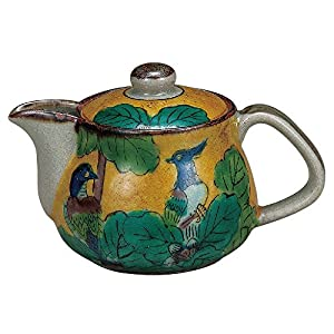 JAPANESE Kutani Pottery Kyusu Japanese teapot BIRD FURUTAYA ?K4-57 Made in Japan