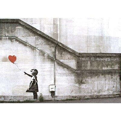 Banksy Balloon Girl Art Print Poster - 17x23