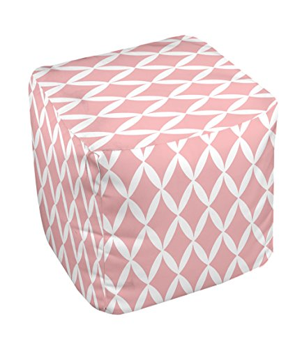 E by design FG-N1-Pink-18 Geometric Pouf