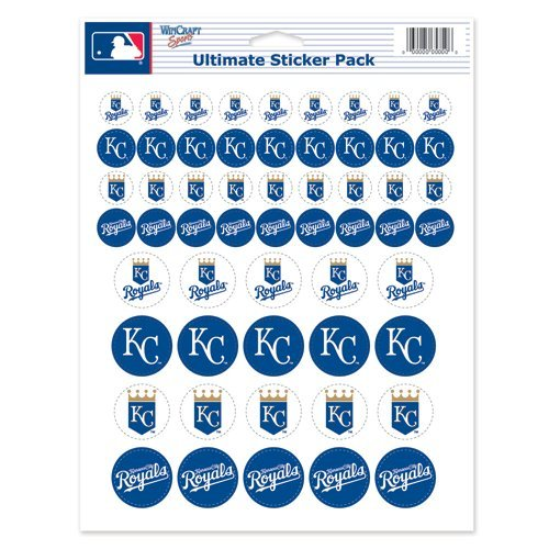 "Kansas City Royals Sticker Sheet 8.5""x11"