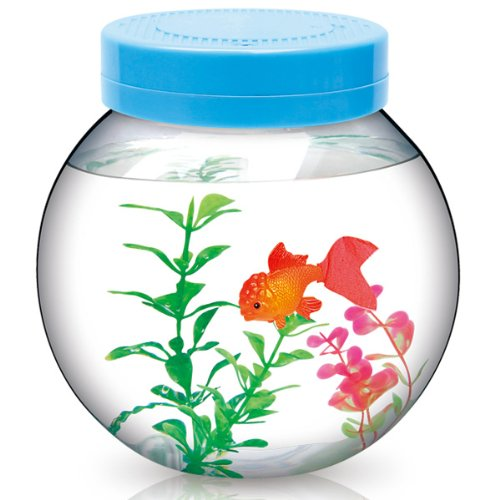 Fishbowl and mysterious electronic pet goldfish toy interior (japan import)