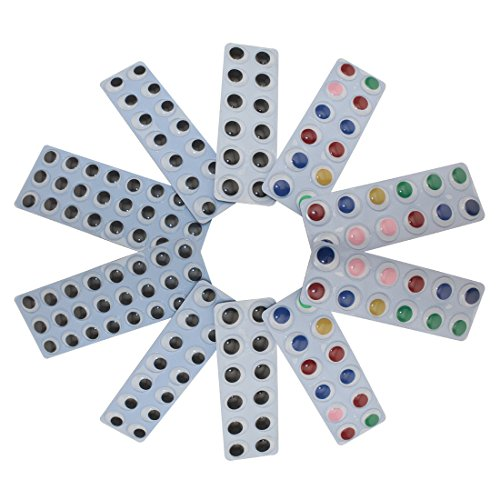 Decora Peel & Stick Multicolor Wiggle Eye Sheets Pack of 146 Pcs