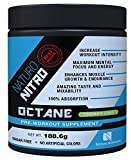 Naturo Nitro Pre Workout Octane - Maximize Your Training with Massive Muscle Building Power for Any Fitness Level! Ignites a Body Building Construction Project with Every Workout - A Precision Formulated, Preworkout Performance Blend of Select Amino Acids