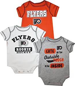 Philadelphia Flyers 18 Months 3pc Creeper Set Baby Infant ROOKIE