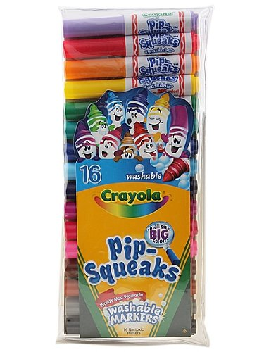 Crayola Pip-Squeak Markers 16 In A Pack (Pack of 6) 96 Markers In Total
