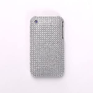 iPhone cover/case Shiny Silver Large Diamante