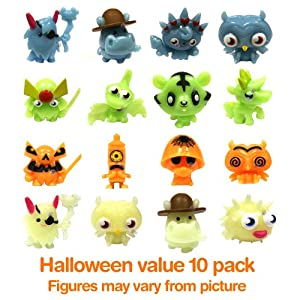Moshi Monsters Series 1 Glow In The Dark Moshling Collectable Figures Value Set of 10