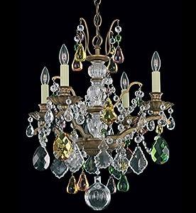 Schonbek 5768 76L Swarovski Lighting Bordeaux Chandelier Heirloom Bronze