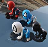 The window of the house and 4 color set with Sucker Spider-Man accessories car blue white red and black Figure Set One World Shop original products (JAN Code: 4560491070167) (japan import)