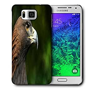 Snoogg Eagle Face Printed Protective Phone Back Case Cover For Samsung Galaxy SAMSUNG GALAXY ALPHA