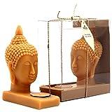 Arveda Decorative Wax Buddha (15.24 Cm X 12.7 Cm, Beige/Unscented)