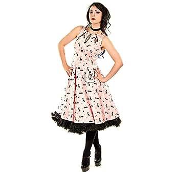 voodoo vixen katzen kleid rosa bekleidung. Black Bedroom Furniture Sets. Home Design Ideas