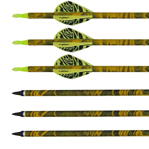pure-carbon-arrows-shaft-for-archery-bow-yellow-camo-blazer-for-adults-bow-and-arrows-screw-in-filed