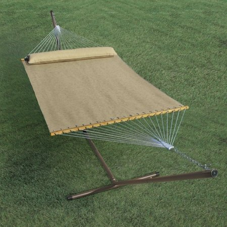 13 ft. Hammock & Pillow in Tan