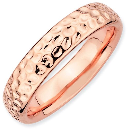 Rose Dimpled Stackable Ring 4.25mm - Size 7