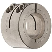 "Ruland WCL-6-SS One-Piece Clamping Shaft Collar, Double Wide, Stainless Steel, .375"" Bore, 7/8"" OD, 3/4"" Width"