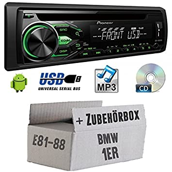 Kit de montage pour BMW Série 1 E81 E87 - Pioneer deh1800ubg - Autoradio CD/MP3/USB -