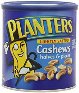 Planters Cashew Halves and Pieces, Lightly Salted, 14 Ounce (Pack of 3)