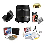 Sigma 18-250mm f 3.5-6.3 DC OS HSM IF Lens Specific for the Canon EOS Rebel T2i T3i T4i T5i 550D 600D 650D 700D Kiss X4 X5 X6 X6i X7i DSLR Digital Camera Includes PRO HD 3PC Filter Kit + 7 Year Lens Warranty + Flower lens Hood + Extended 2000MAH LP-E8 Battery Pack + More