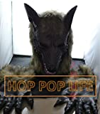 【HOPPOPLIFE】オオカミ男コスプレセットマスク&グローブ